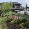 庭で苗床作り