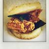 モスバーガーの「モスライスバーガー海老の天ぷら」を食べました。