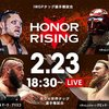 2.23 新日本プロレス HONIR RISING:JAPAN DAY 2 ツイート解析