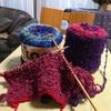 編み物 「LOG」ネップ入り毛糸