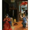 ロレンツォ・ロット 「受胎告知」 アダムとイブの創生?