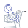 【子供のマナー】スーパーのカートのかごを置くとことに子供が座っている!?目を疑った光景と昔のクレヨンしんちゃんにもあってビックリな話。