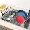 シンクのスペースを有効活用 SANNO 食器水切りかごカトラリーホルダー付き ステンレス製