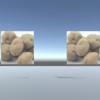 Unityでテクスチャ画像をCubeで表現:Instantiate