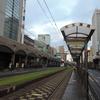 2018夏・日本列島跳躍旅行(14)朝の鹿児島市電直通線を通る