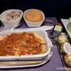 香港旅行の「飛行機の中」で機内食他。