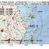 2017年09月28日 16時56分 岩手県沿岸北部でM3.0の地震