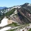 水晶岳。7月中旬。