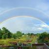 私が出会った、安曇野に架かった大きな虹の風景写真をまとめたよ。