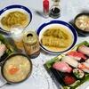 ロールキャベツ、お寿司などで晩酌&ケーキ(実家)