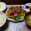 薬膳朝食 イチジクと柿と生ハムのサラダ