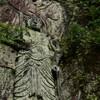 国東出身の男性がひとりで彫った寒田磨崖仏 福岡県築上町寒田