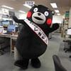 くまモン 毎日新聞福岡本部を訪れる