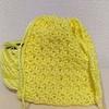 レース糸でポーチ作った(かぎ針編み)