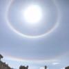 「大氣光学現象」の「環水平アーク」、「日暈(ひがさ)」観測されました。♫