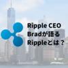 Ripple CEO, Bradが語るRippleとは