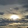 朝日と空と雲