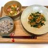 【献立・一汁一菜】十六穀ごはん+青椒肉絲+高野豆腐のスープ