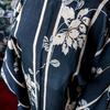 🆕モノトーン縞に花 長羽織