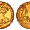 イギリス1702年アン女王戴冠メダルNGC AU58