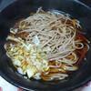 今日の晩飯 年越しそばを作って食べました。