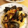 ムール貝とトマトのパスタ〜クッキー焼き始めました😊