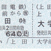 上田電鉄  硬券往復乗車券