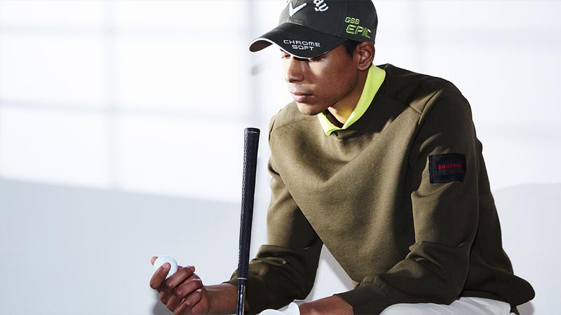 プラス1枚欲しい三寒四温に効く万能トップスが、春ゴルフのスパイスに!