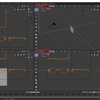 Blender 2.8でモデリングする その7(メガネの輪郭作成)