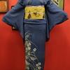 縦絽すすきに撫子色留袖×兎の帯