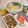 ごま坦々鍋と魚肉ソーセージ
