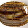 素朴で親しみやすいスリップウェアの「楕円カレー皿」。