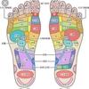 アトピーの痒みを抑えるマッサージ。と、足のツボで、悪いところ探し。