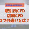 くりっく株365(取引所CFD)と店頭CFDの違いとは?長期投資は取引所CFDを使いましょう!