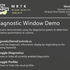 MRTK v2 Beta2 DiagnosticsDemoの確認