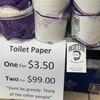 Tペーパー買占めにしっぺ返し、コンビニ店主の貼り紙。