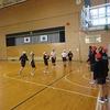 6年生:体育 バスケットボール シュート練習