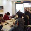 毎月恒例の絵手紙教室
