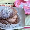 2017.1.15 チョコレートクリームのパフケーキとヨーグルト&ストロベリーのムース