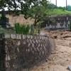 大雨で海田町でも土砂崩れ