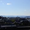 山辺の道の真ん中あたり。柳本から長柄を歩く。古代の壮大な風景がどこまでも続いている。