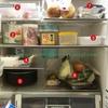 冷蔵庫の中の定位置を決定!物倒れるポケットも改善
