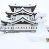 冬の弘前公園、そして田舎舘「冬の田んぼアート2020」へ。昼間だけど。。。
