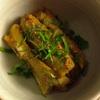 ✳︎蒸し茄子の黒胡椒味噌(覚書き)、鱈の薄味煮付け、機内食「フルーツミール」
