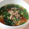 『にら』嫌い克服レシピ:にらとひき肉のシンプルラーメン
