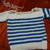 ハンドメイドの過去作品、棒針編みの子ども用セーター。