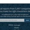 海外企業のアニュアルレポートを探す時に役立つサイト