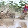大人が率先して遊び倒した、森のようちえんじらんぼうの田んぼ開催