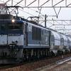 1/28 EF64広島更新色の白ホキを撮る