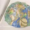 「向日葵とカワセミ」「夏の女神」の塗り絵【マンダラコロリアージュ】